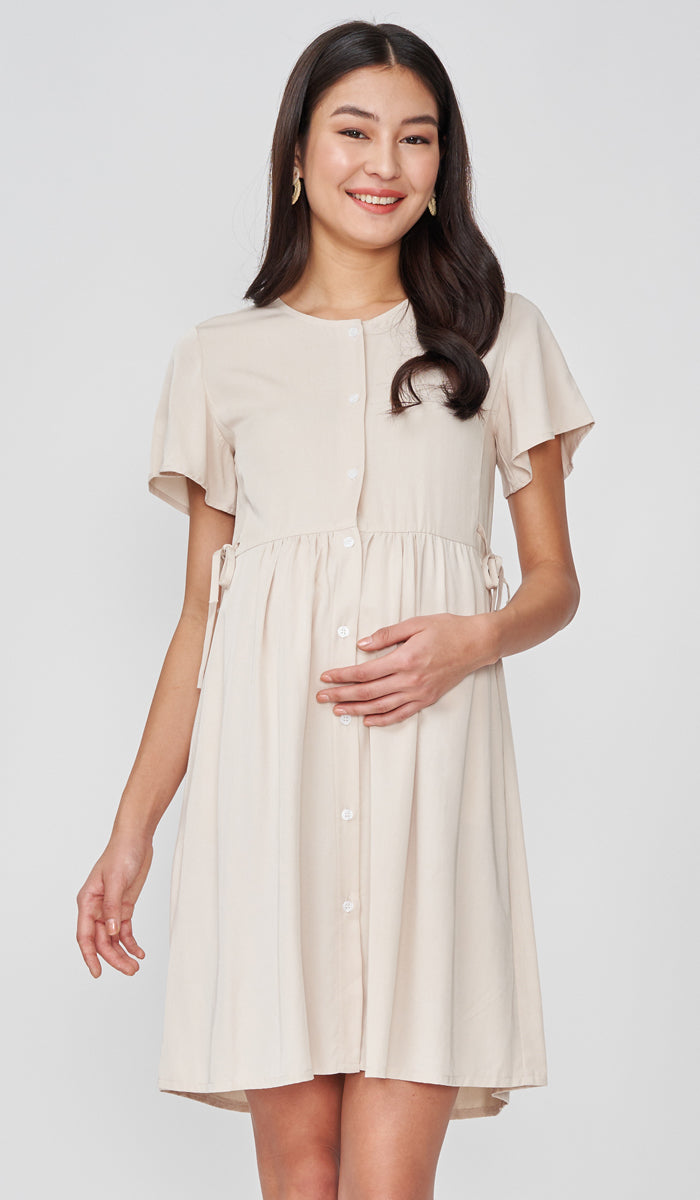 DORA BUTTONDOWN DRESS OAT