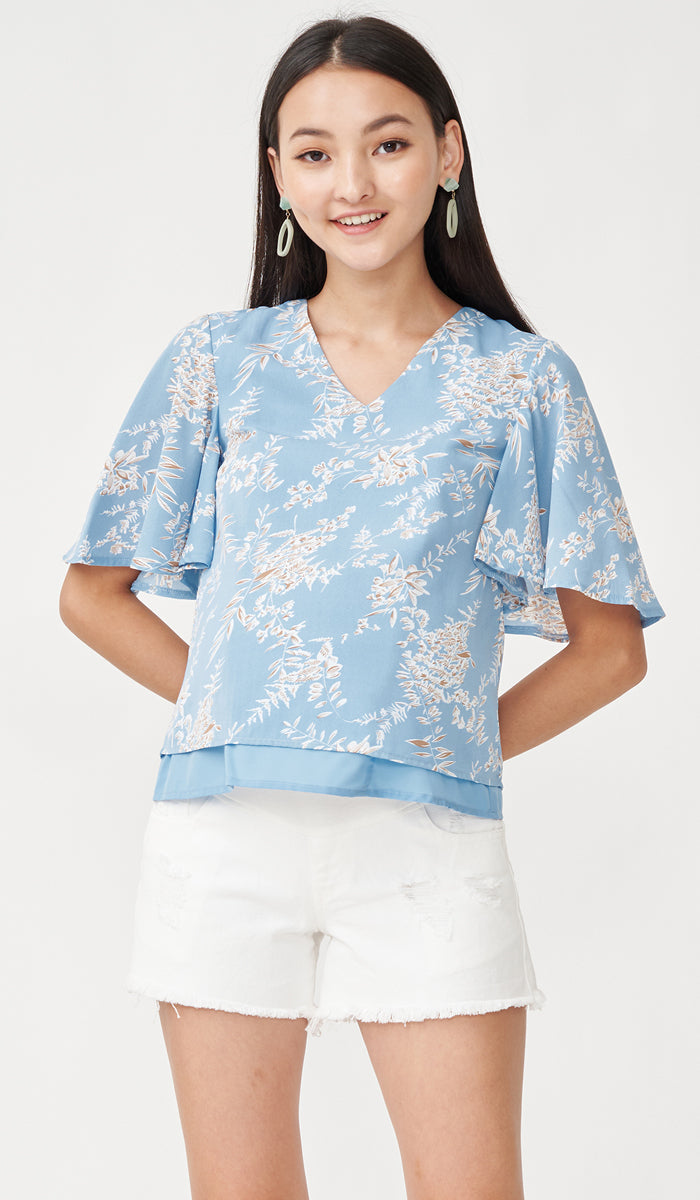 EDEN NURSING TOP BLUE