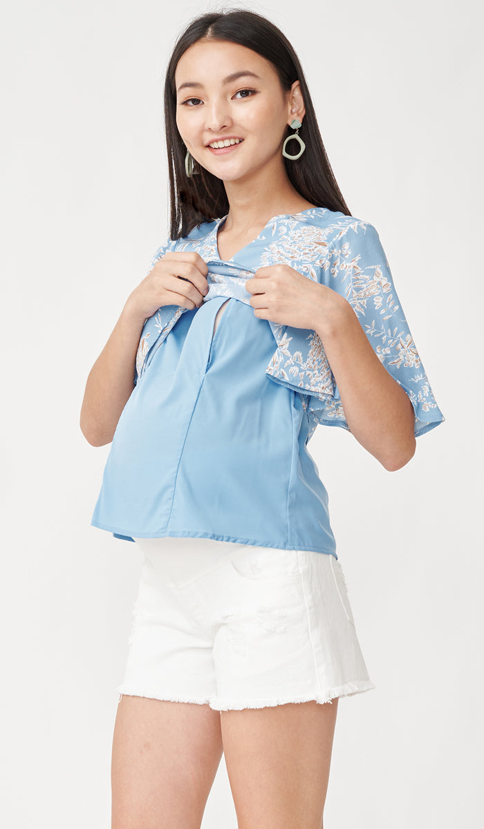 SALE - EDEN NURSING TOP BLUE