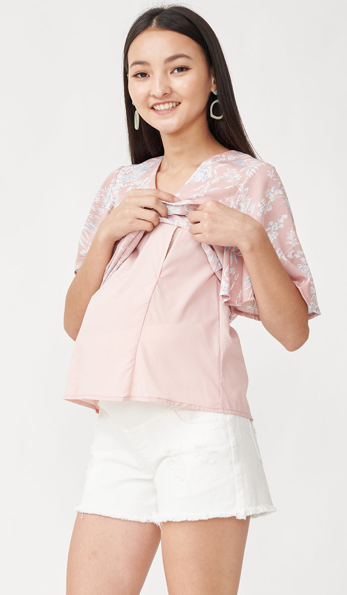 SALE - EDEN NURSING TOP PINK