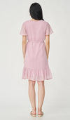 EIRA DOT TEXTURED NURSING DRESS PINK