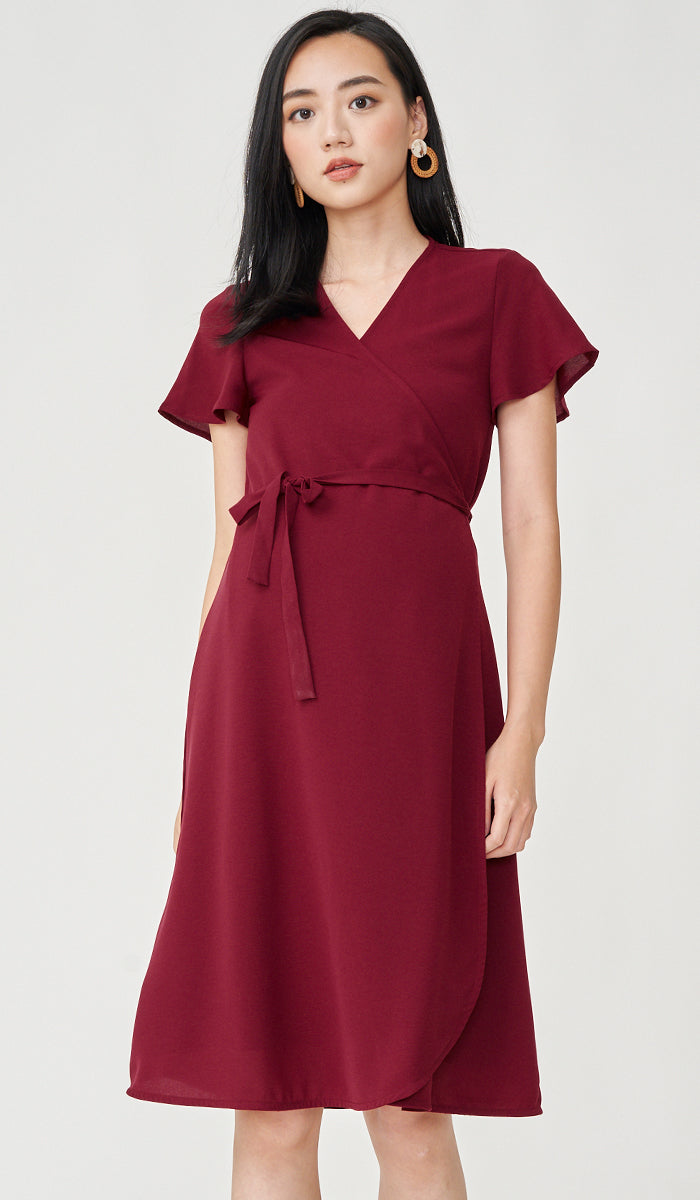 ELLIS WRAP DRESS RED