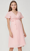 ELLIS WRAP DRESS PINK