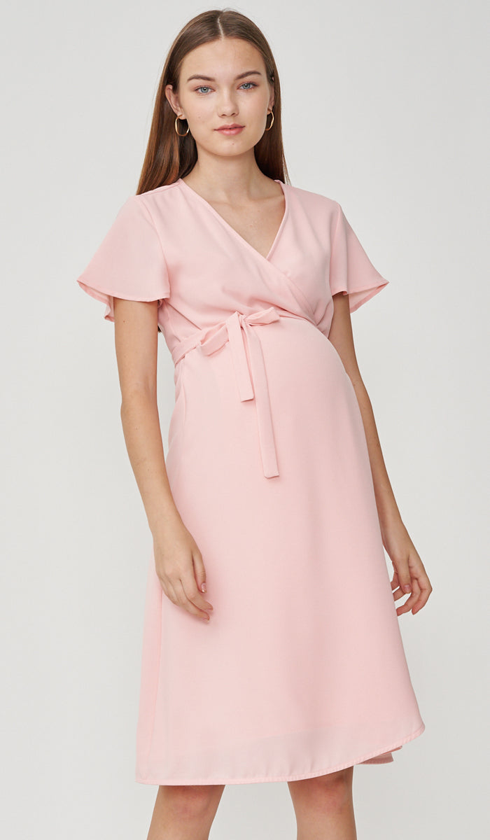 SALE - ELLIS WRAP DRESS PINK