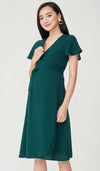 ELLIS WRAP DRESS GREEN