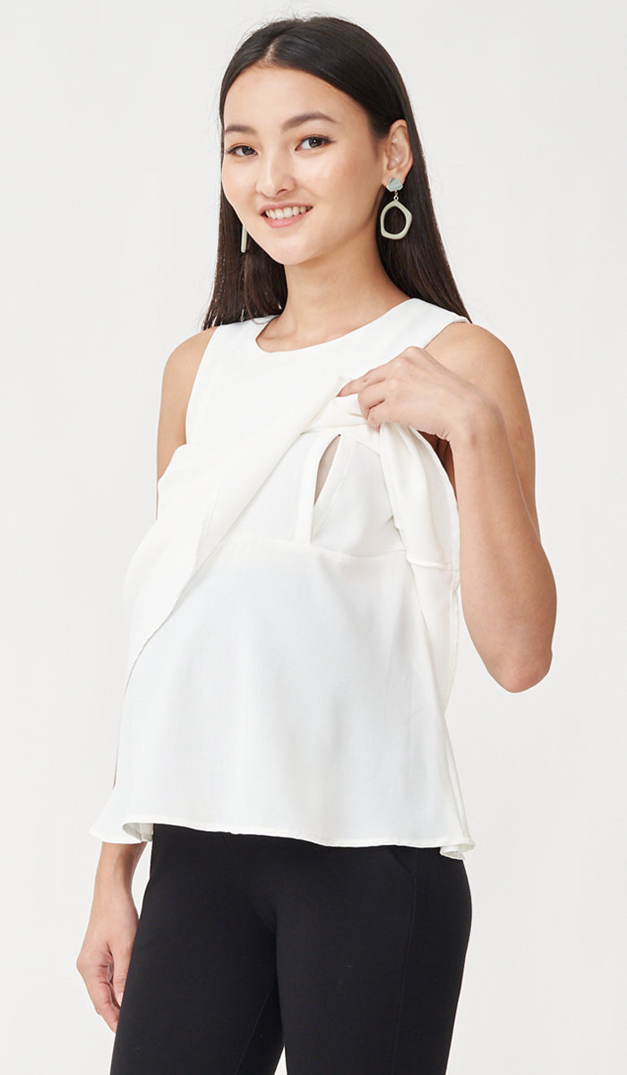 FREY NURSING TOP WHITE