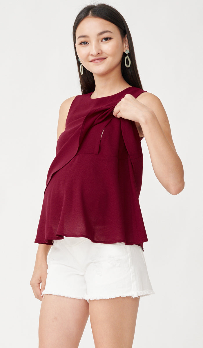 FREY NURSING TOP RED
