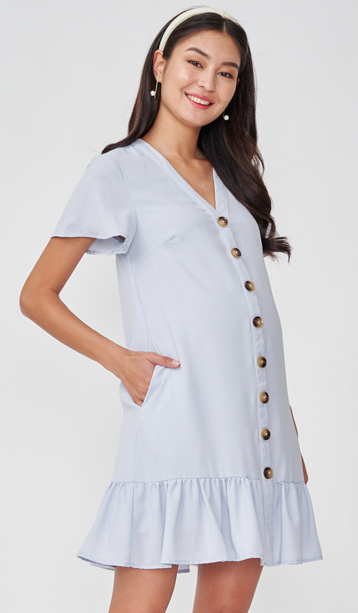 GEN BUTTONDOWN DRESS BLUE