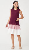 GRETA COLORBLOCK NURSING DRESS RED