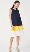 GRETA COLORBLOCK NURSING DRESS NAVY