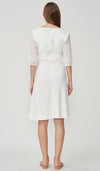 HANNA CROCHET SLEEVE NURSING DRESS WHITE