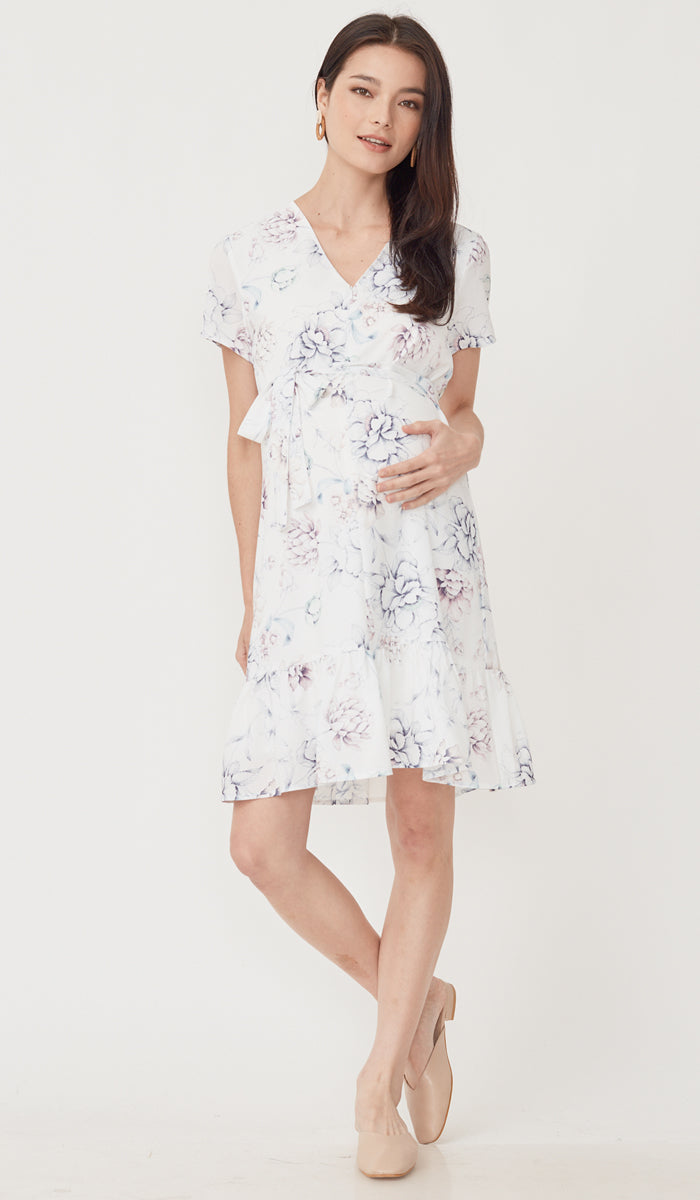 HYACINTH ZIPFRONT NURSING DRESS