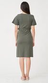JEN FAUX WRAP DRESS OLIVE W SASH