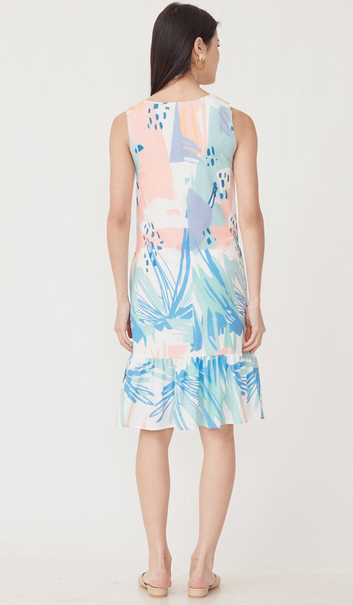 LOLA ABSTRACT NURSING DRESS PASTEL