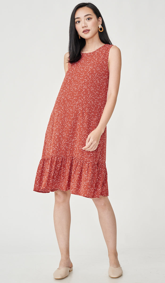 LUMI NURSING DRESS RUST