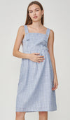 NAUTICAL STRIPES 2-WAY NURSING DRESS BLUE