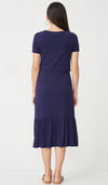 NORAH MIDI NURSING DRESS BLUE