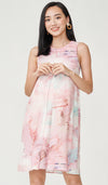 PAINT-STROKES NURSING DRESS PINK