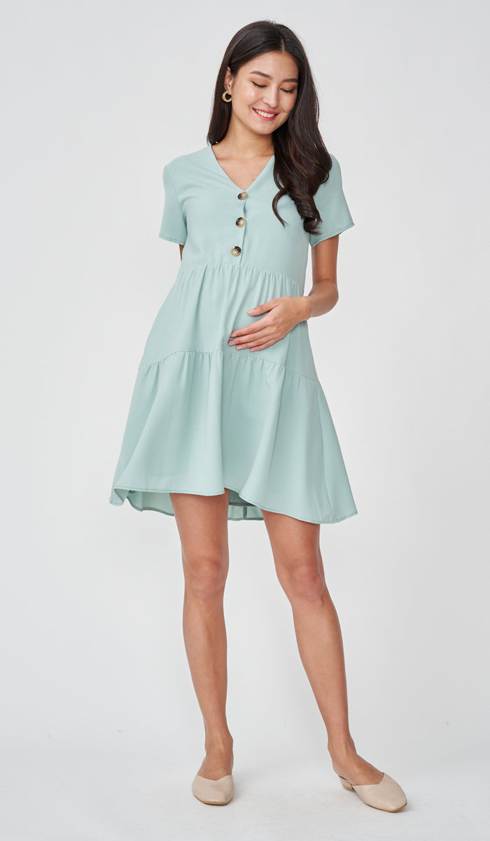 PENNY BUTTONDOWN DRESS MINT