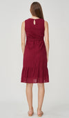 PIA CROCHET NURSING DRESS RED