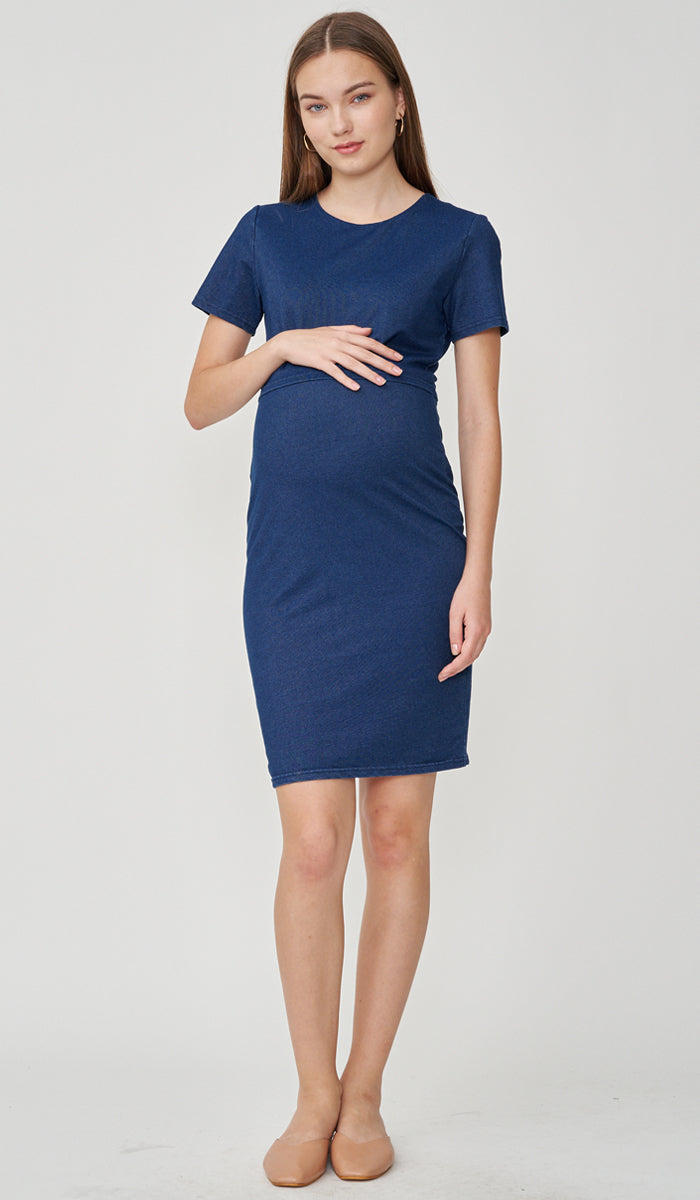 TABITA DENIM BODYCON NURSING DRESS