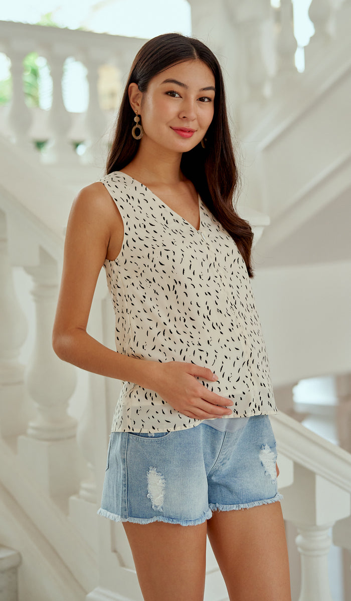 XERA NURSING PRINTED TOP CREAM