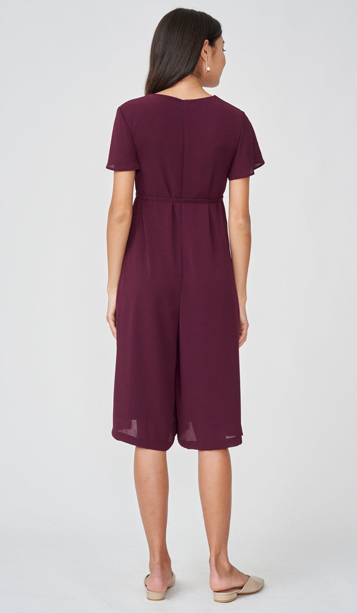 ALICIA NURSING JUMPSUIT PLUM