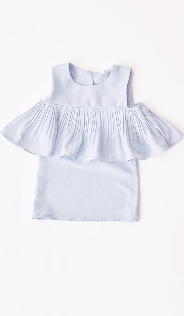 LYLA KIDS DRESS SKY BLUE