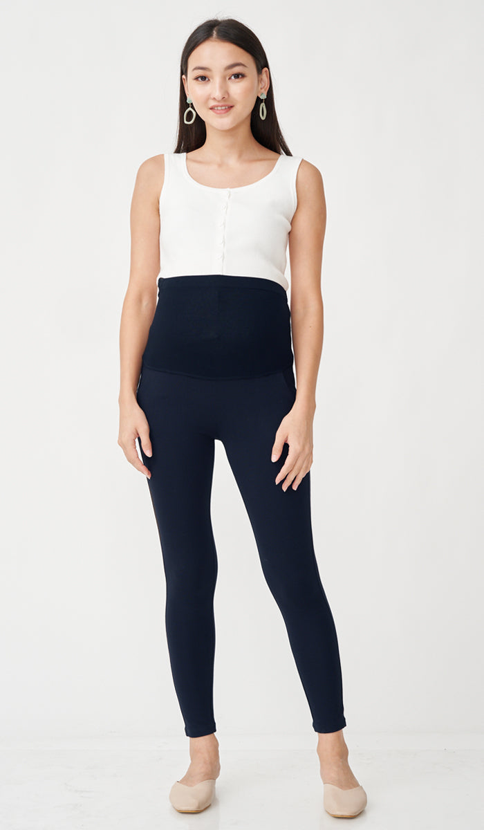 ALEXIS MATERNITY JEGGINGS NAVY