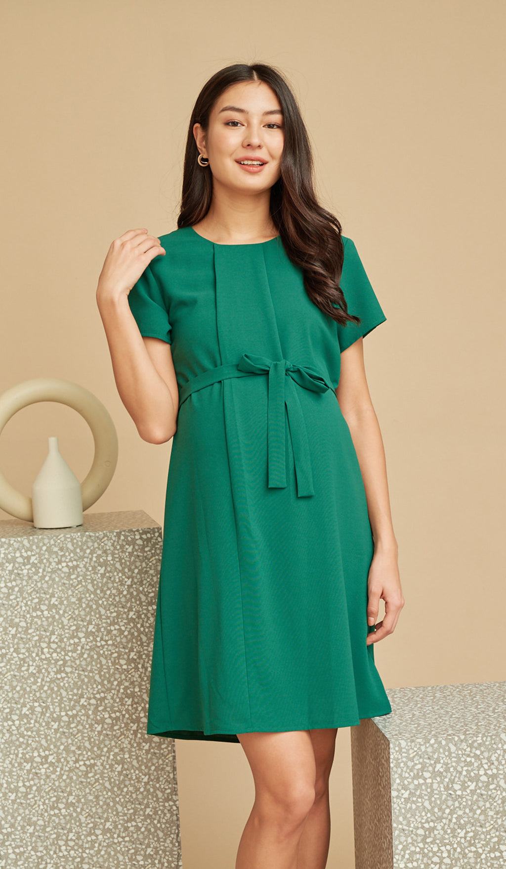 ANGIE NURSING SHIFT DRESS KELLY GREEN