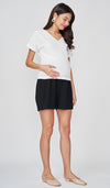 BENITA PLEATED SHORTS BLACK