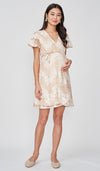 COLETTE LACE WRAP DRESS PINK