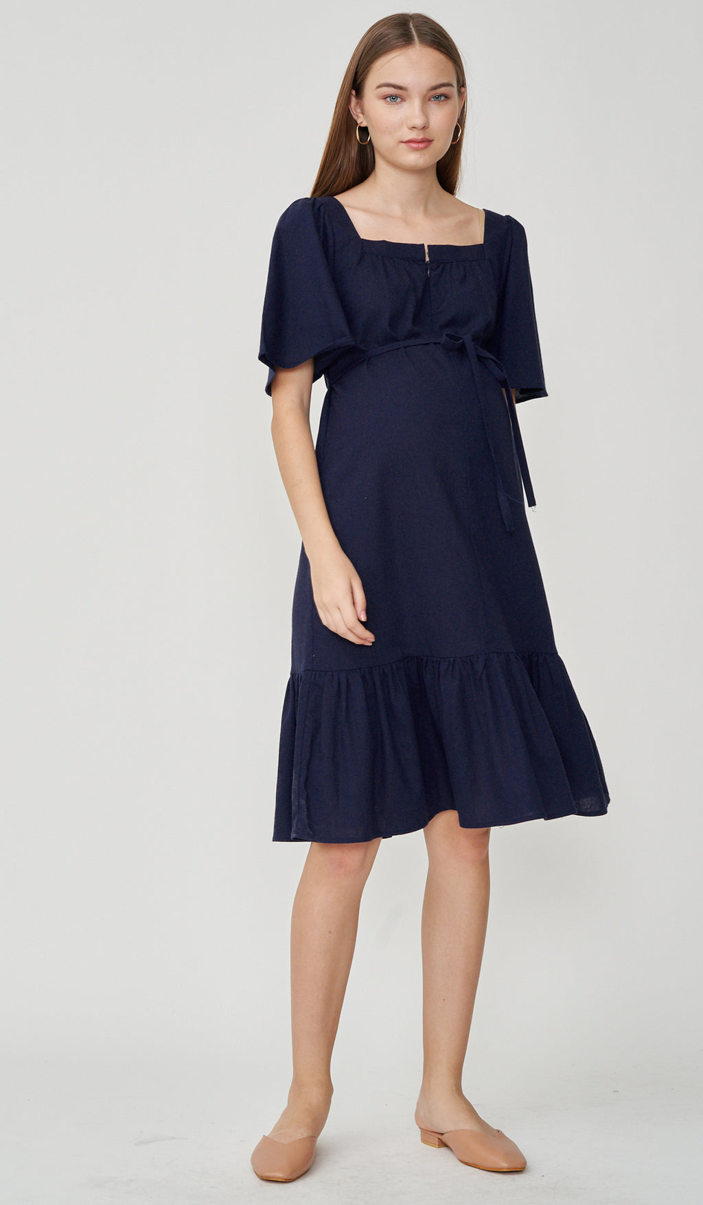 DALIAH 2-WAY NURSING DRESS NAVY