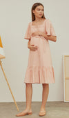 DALIAH 2-WAY NURSING DRESS PINK