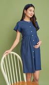 DANA BUTTONDOWN DRESS DARK DENIM