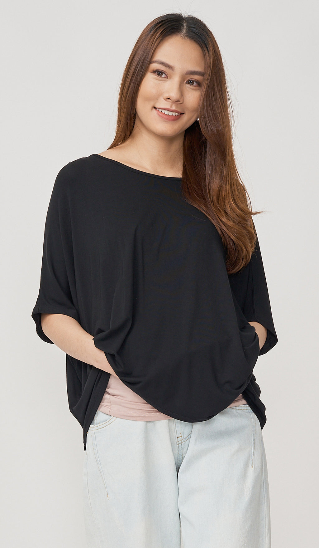 DEVON NURSING COVER TOP BLACK