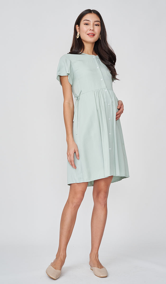DORA BUTTONDOWN DRESS MINT
