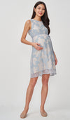 GISELLE LACE NURSING DRESS SKY