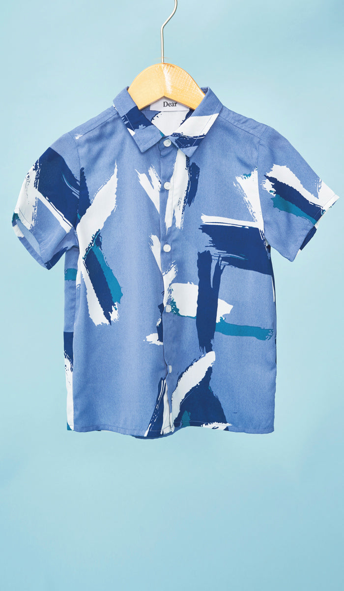 HAL KIDS SHIRT BLUE