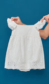 ILA KIDS CROCHET ROMPER WHITE