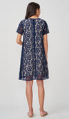 JASMIN LACE NURSING DRESS NAVY