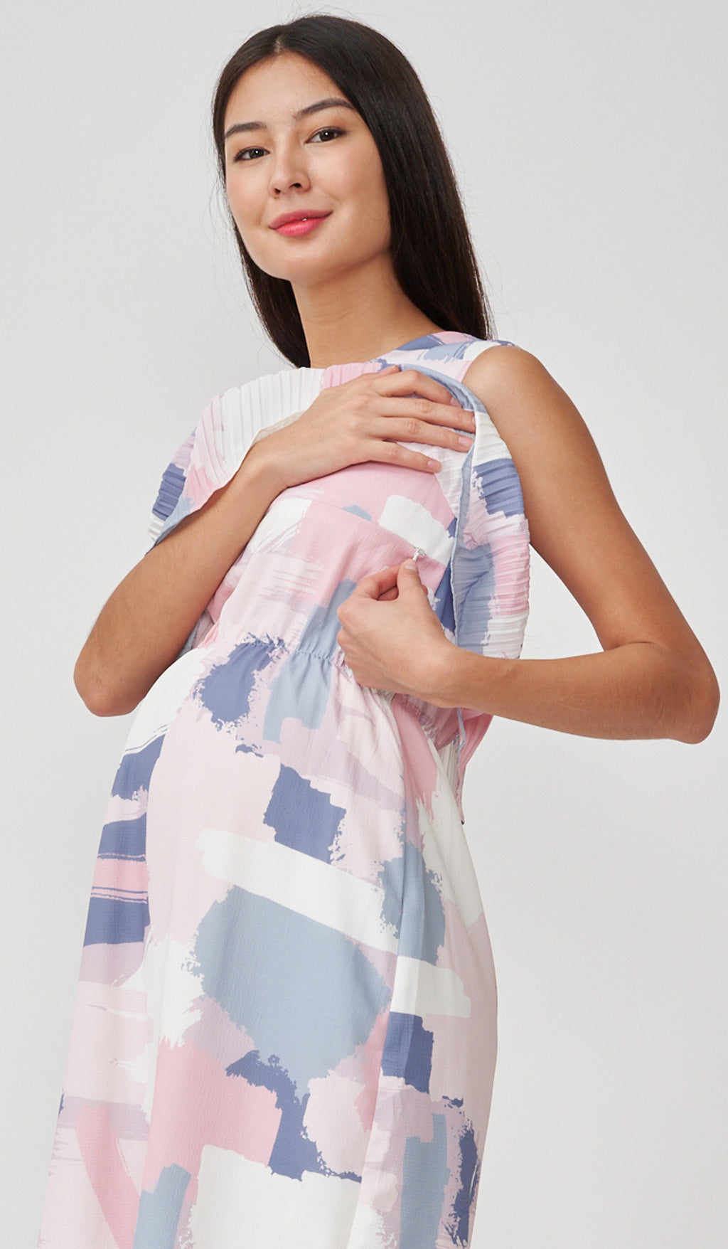 JOY PAINTSTROKES NURSING DRESS