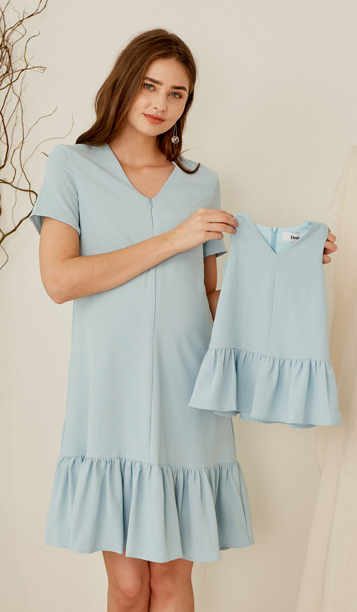 SALE - JUNE KIDS DRESS LIGHT BLUE