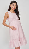 MAE TEXTURED NURSING DRESS PINK