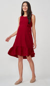 MAE TEXTURED NURSING DRESS RED