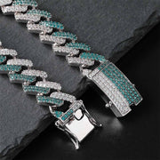 14mm Mint Diamond Prong Cuban Bracelet