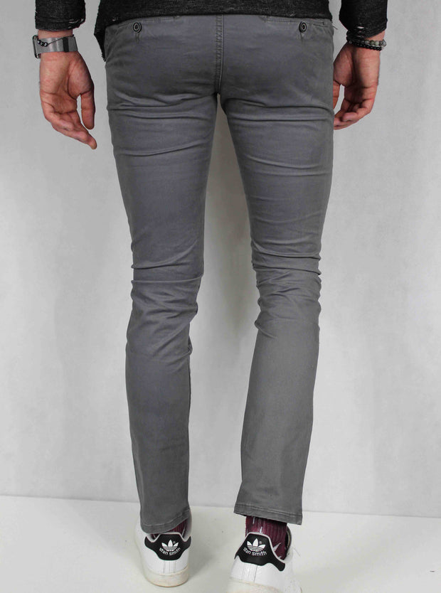 Pantalon chino homme gris coupe skinny 5