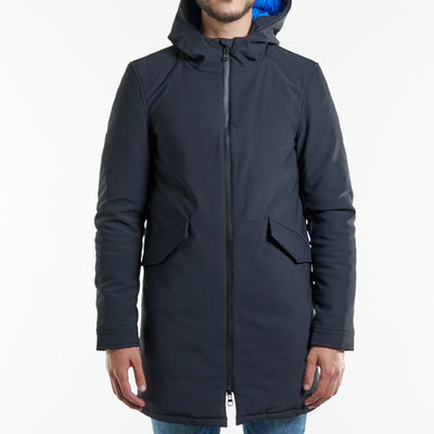 Manteau long bleu marine