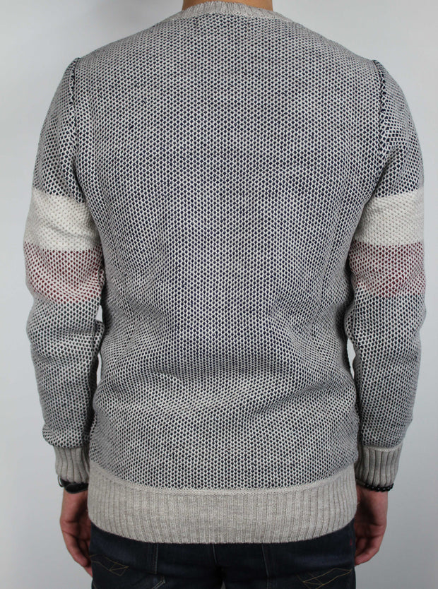 pull maille homme à bandes