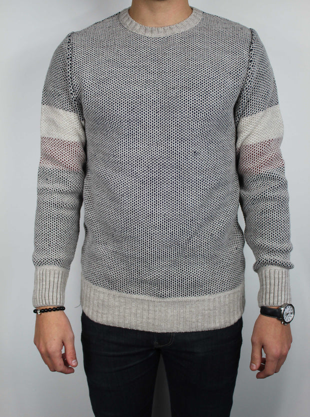 pull maille homme taupe